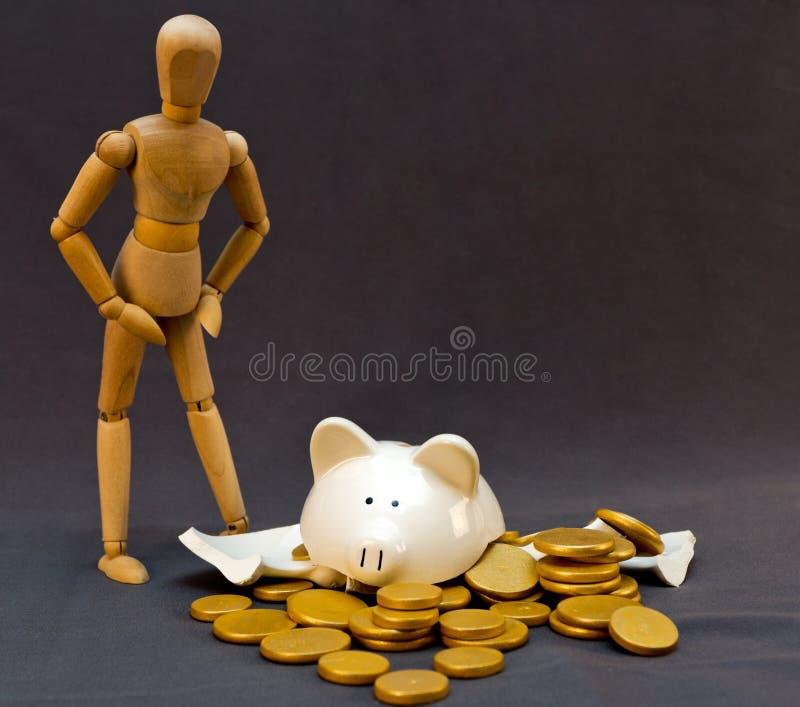 Preocupaciones del dinero foto de archivo libre de regalías