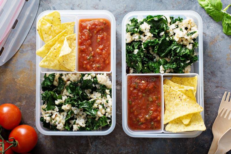 Prep maaltijd of lunch voor het werk stock afbeelding