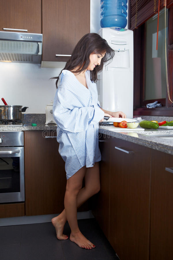 Download Prepapring breakfast stock image. Image of adult, woman - 28674185