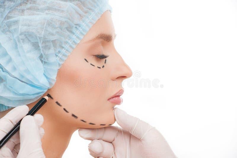 Preparação à cirurgia plástica. imagem de stock