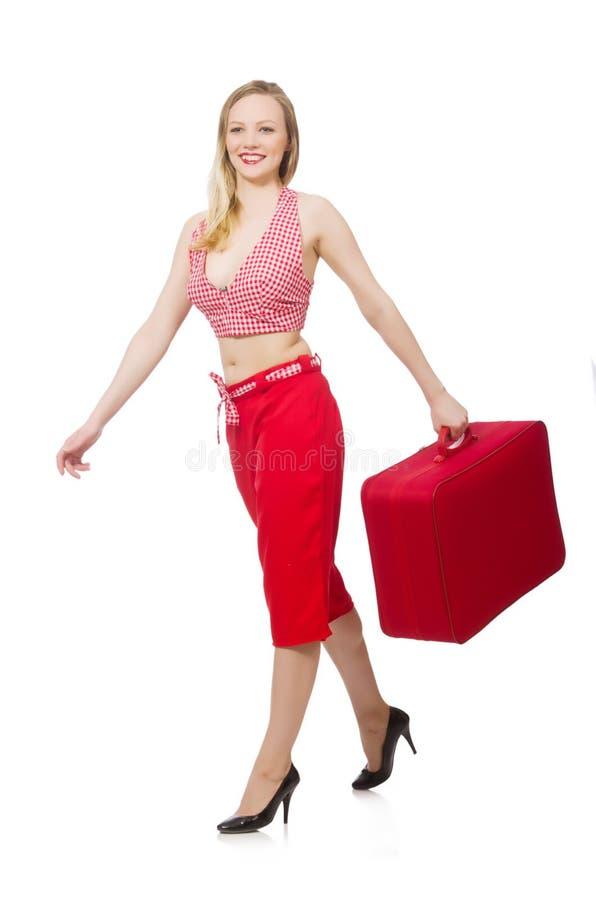 Preparação da jovem mulher fotografia de stock