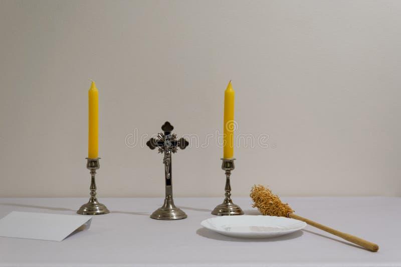 Preparação da visita do padre imagem de stock royalty free