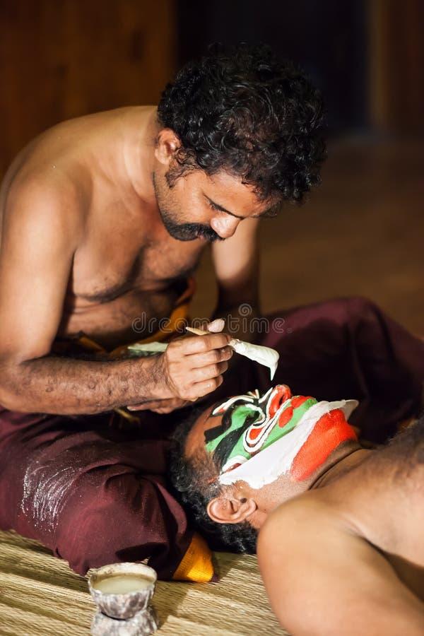 Preparação de Kathakali fotos de stock