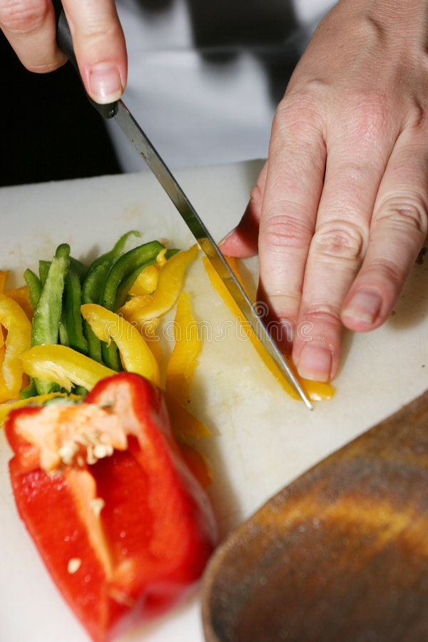 Preparação do alimento fotografia de stock