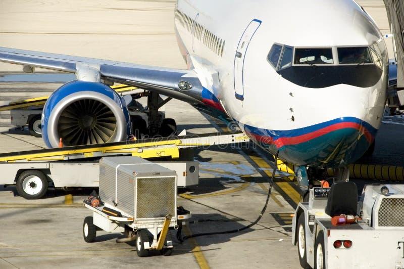 Preparação do avião foto de stock royalty free