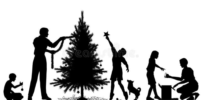 Preparação do Natal ilustração royalty free