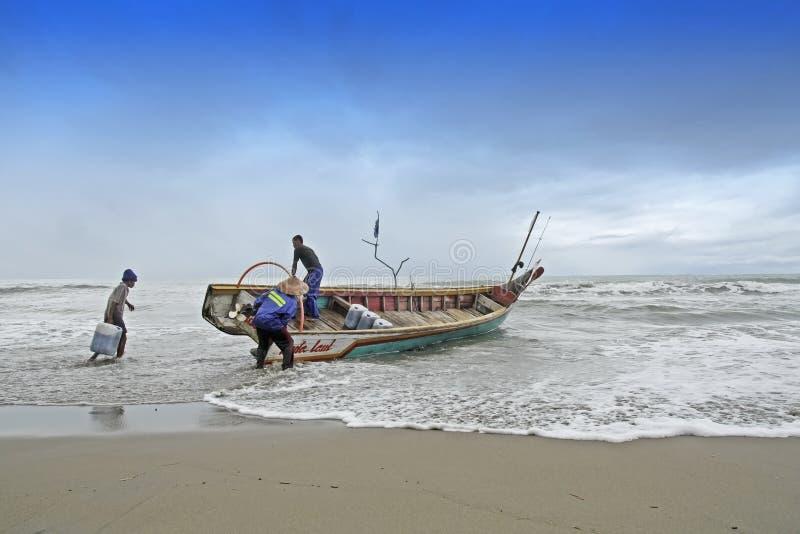 Preparação dos pescadores imagens de stock