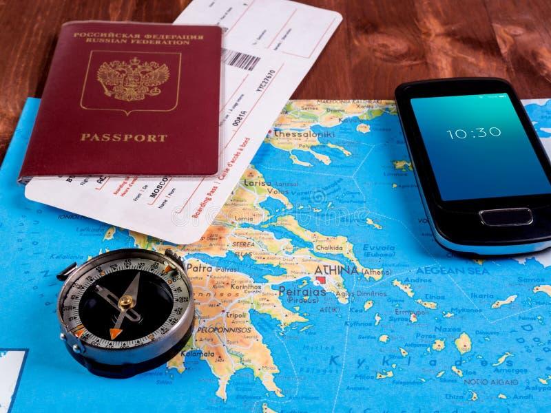 Preparação para as férias de verão Planeamento da viagem imagens de stock royalty free