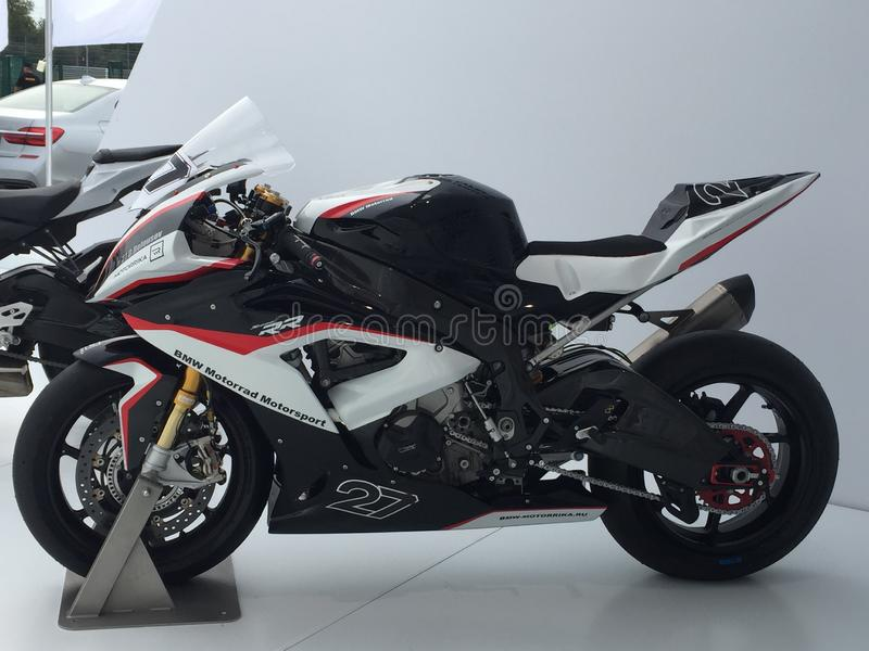 Preparação para o GP anular pesado de Moto da raça! foto de stock royalty free