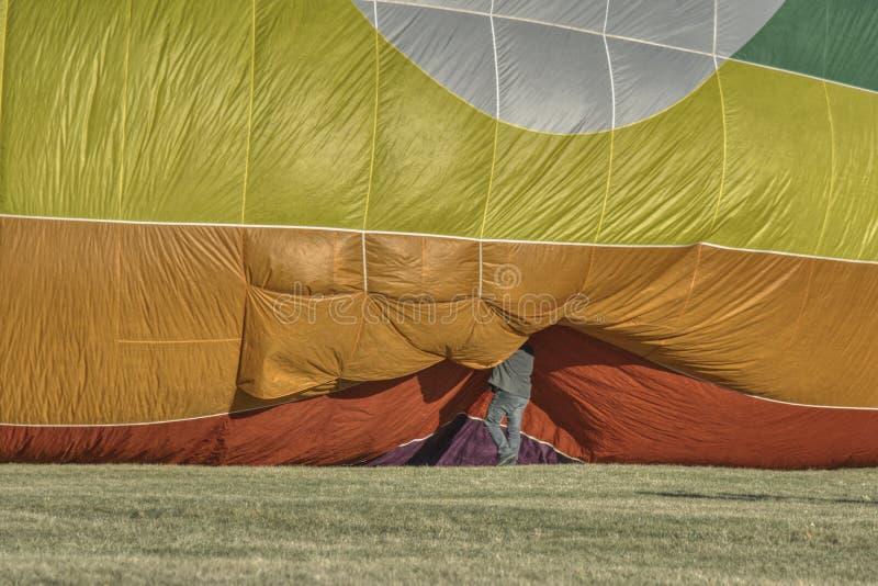 Preparação para o lançamento do balão fotografia de stock