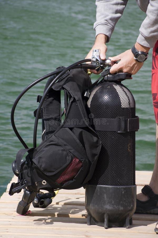 Preparação para o mergulho imagens de stock
