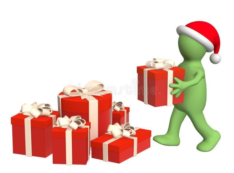 Preparação para o Natal ilustração stock
