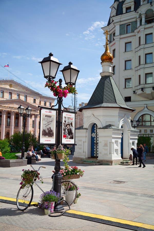 Preparação para Victory Day em Moscou, Rússia imagem de stock