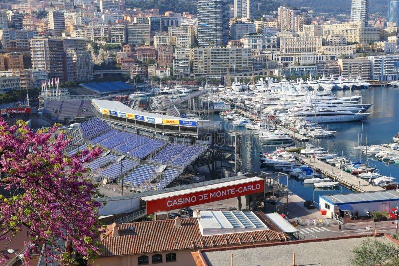 Preparações para Mônaco Prix grande 2015 imagens de stock royalty free
