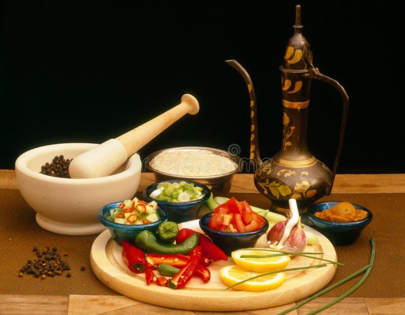 Preparación de comida asiática foto de archivo