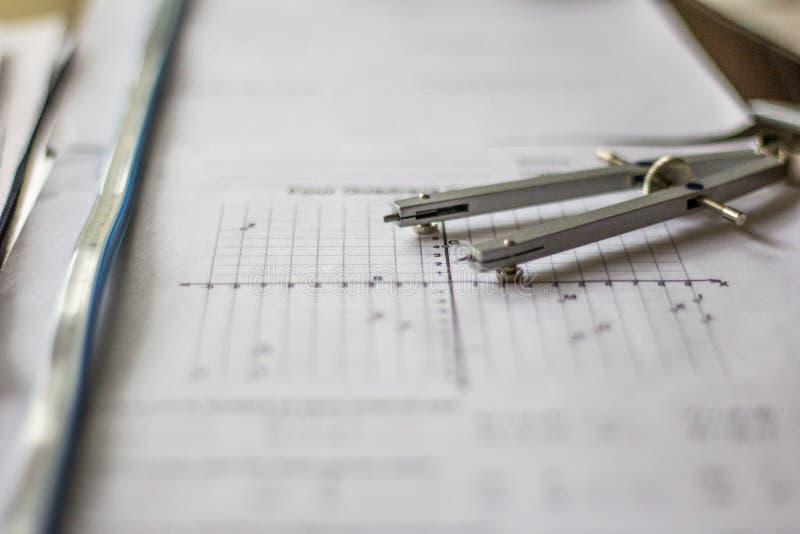 Preparación de la matemáticas y de la álgebra imágenes de archivo libres de regalías