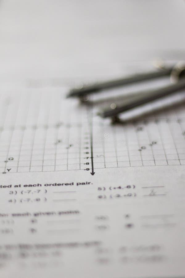 Preparación de la matemáticas y de la álgebra foto de archivo libre de regalías