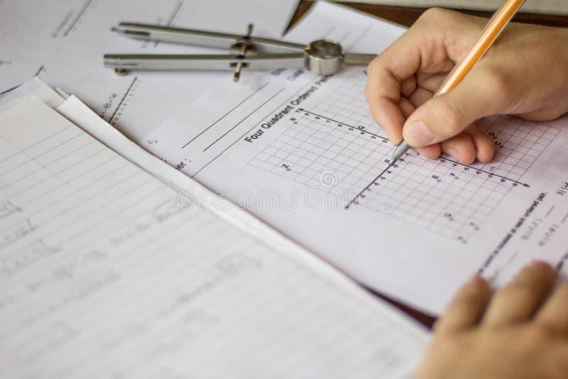 Preparación de la matemáticas y de la álgebra imagenes de archivo