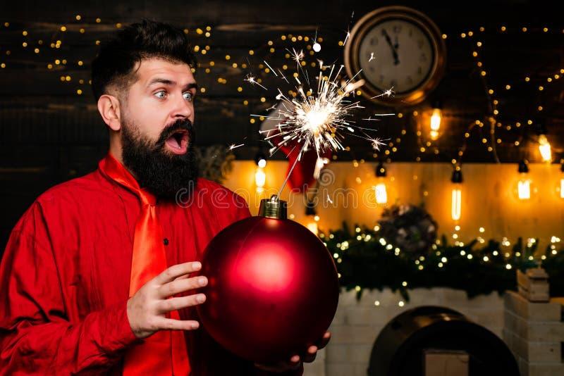 Preparación de la Navidad Papá Noel pintado a mano Venta de la Navidad de la ráfaga de la chispa Papá Noel desea Feliz Navidad y  imágenes de archivo libres de regalías