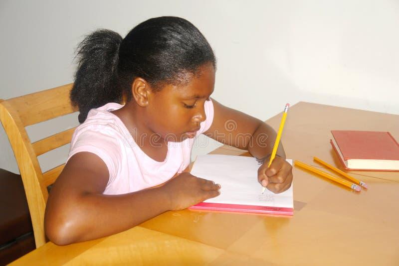Estudiante Homework Fotografía De Archivo