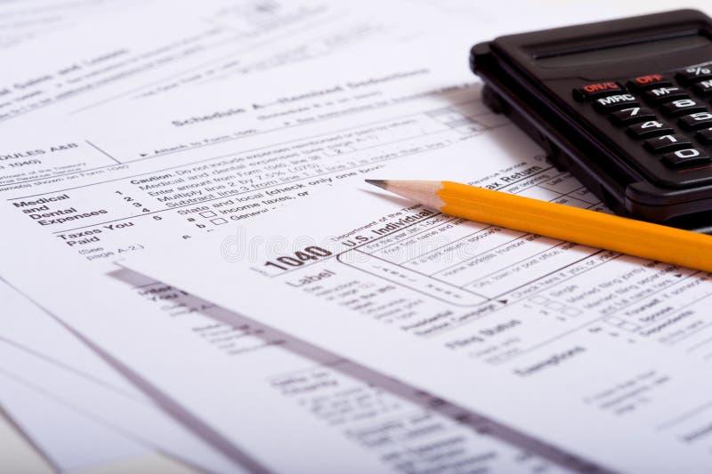 Preparación del impuesto imagenes de archivo