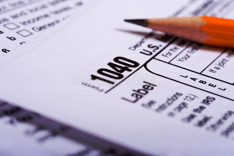 Preparación del impuesto fotos de archivo libres de regalías