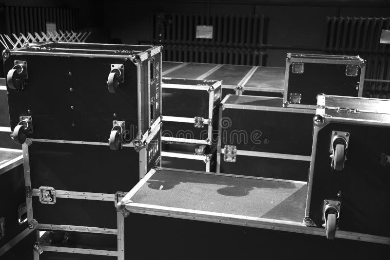 Preparación para el concierto fotografía de archivo