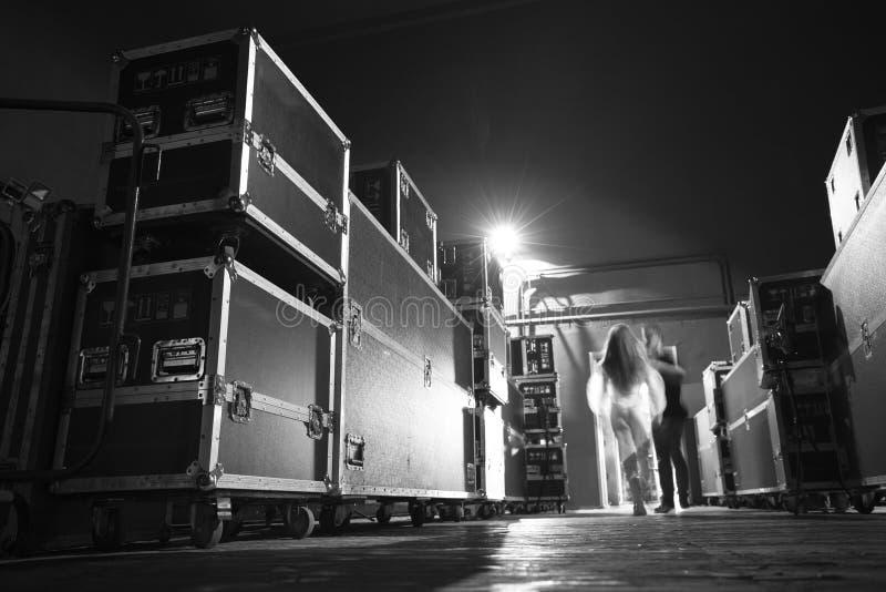 Preparación para el concierto imagen de archivo libre de regalías