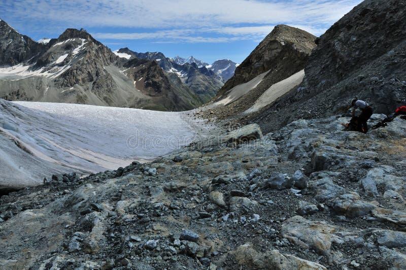 Preparación para el glaciar foto de archivo