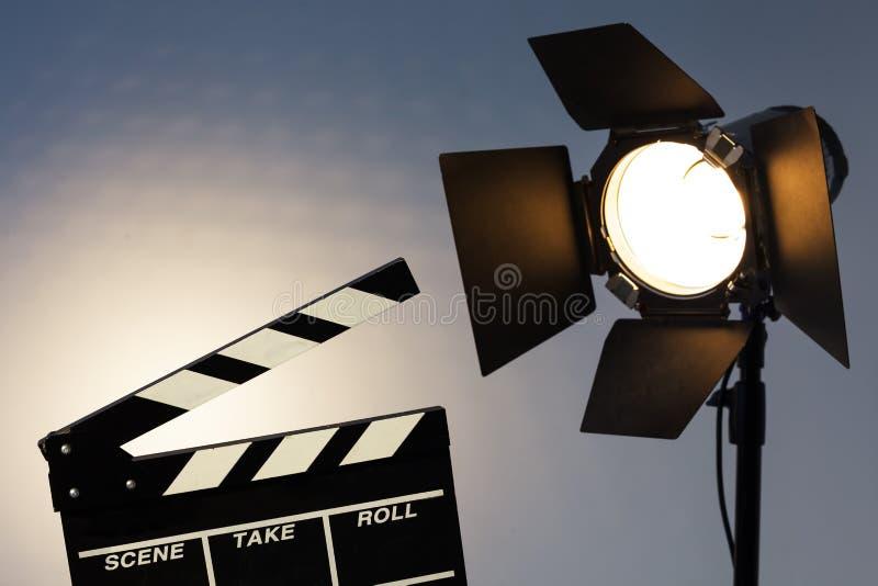 Preparación para la captura video y la sesión fotográfica fotos de archivo