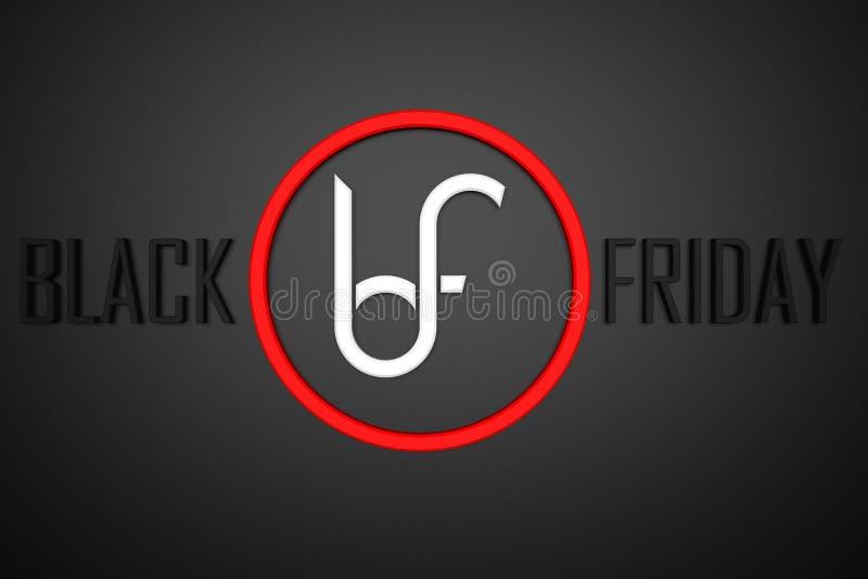 Preparado para las ventas grandes de Black Friday imágenes de archivo libres de regalías