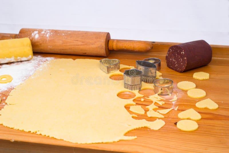 Preparando biscoitos do Natal fotografia de stock royalty free