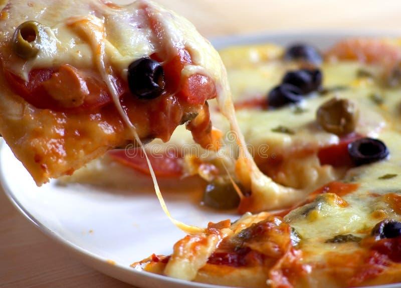 Preparando etapa três da pizza imagem de stock royalty free