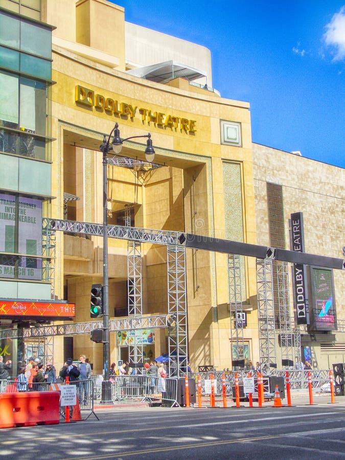 Preparandosi per il Oscars a Hollywood immagine stock