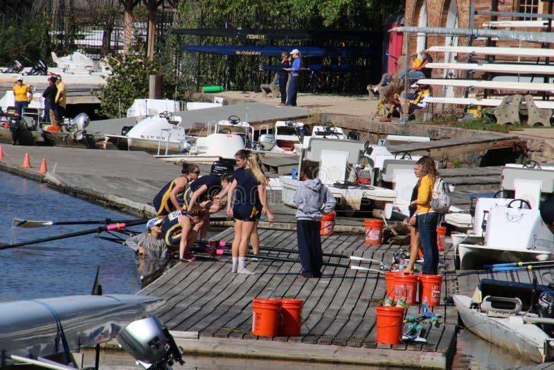 Preparandosi per la corsa di barca fotografie stock libere da diritti