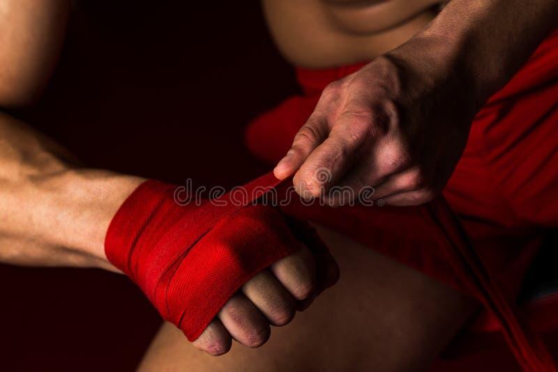 Preparar-se final do lutador imagem de stock