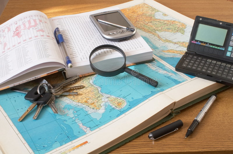 Preparation for a business trip stock photography