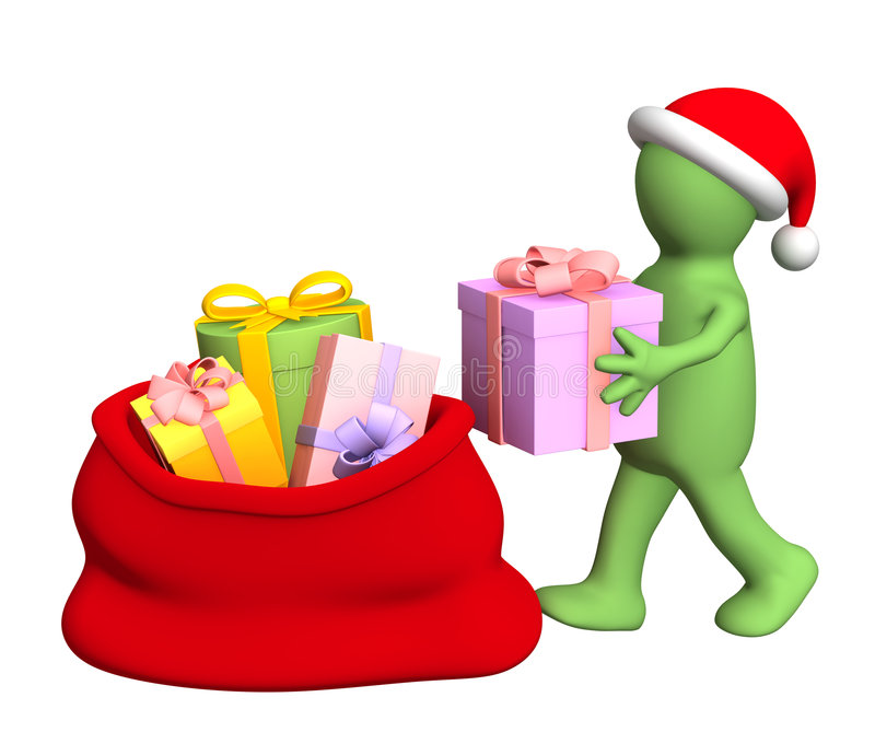 Preparation for Christmas vector illustration