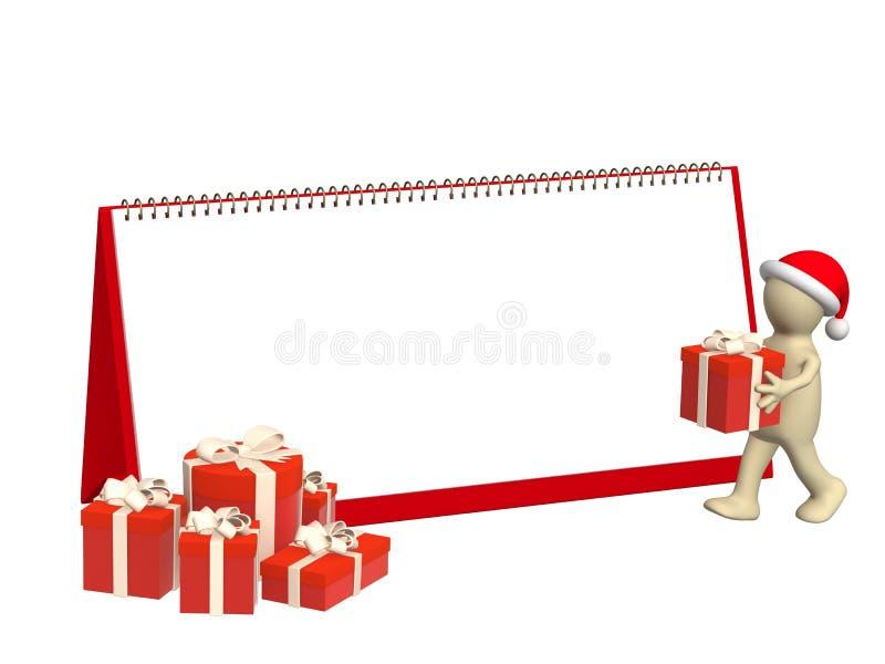Preparation for Christmas stock illustration