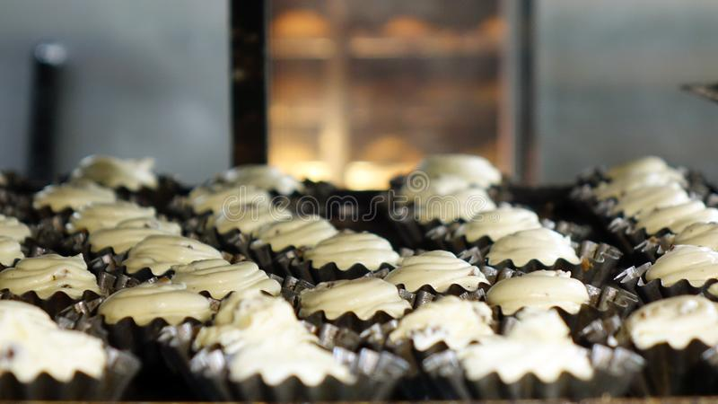 Preparation of cookies for baking. Cooking process in the kitchen.  stock photos