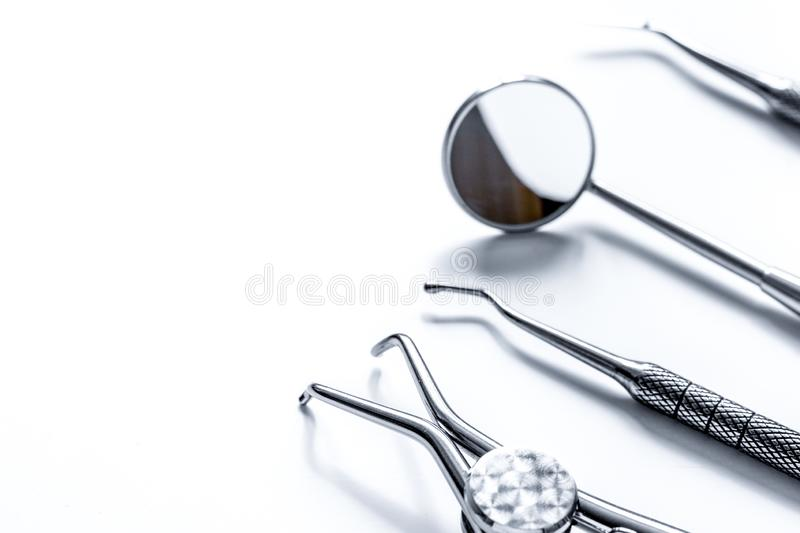 Preparation of dental instruments before work royalty free stock photo