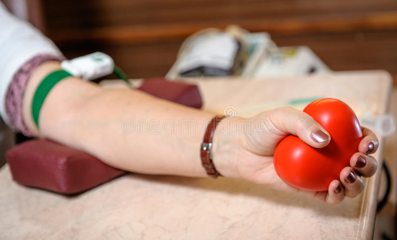 Preparation to blood donation royalty free stock photography