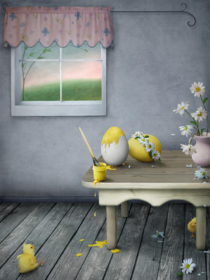 Preparations for Easter royalty free stock image