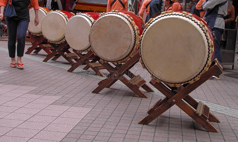 preparaty bębny japońskiego obrazy stock