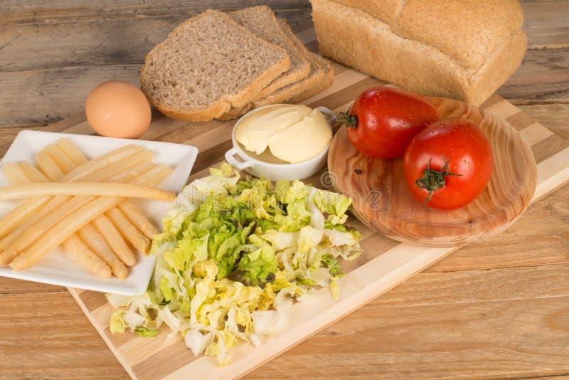 Sandwich vegetariano fotografia stock libera da diritti