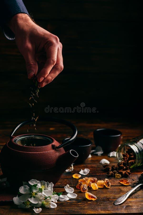 Preparazione del tè fotografia stock libera da diritti