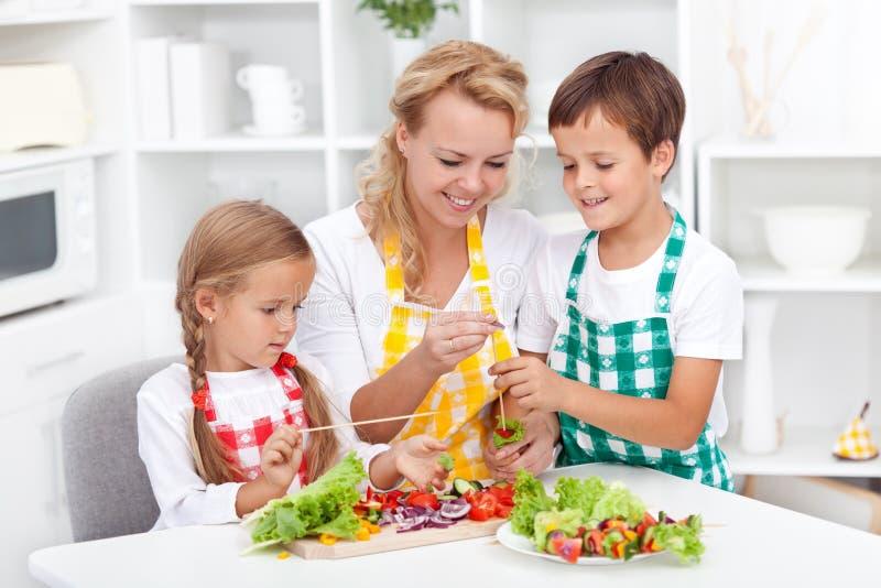 Preparazione dell'alimento sano fotografia stock libera da diritti