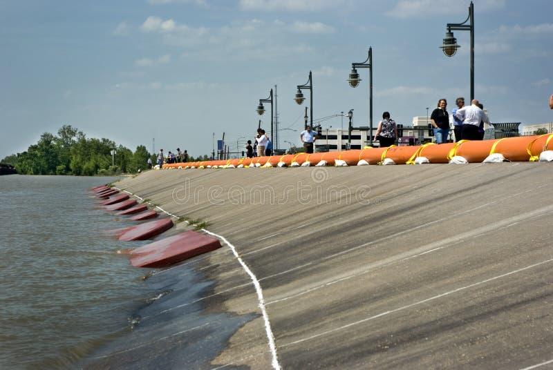 Preparazione dell'inondazione del fiume Mississippi fotografia stock libera da diritti