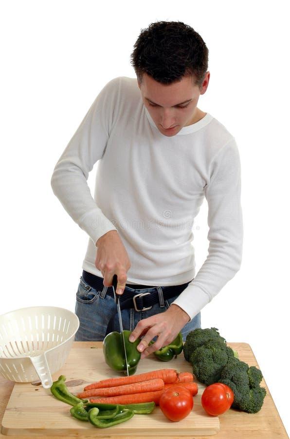 Preparazione dell'insalata fotografia stock