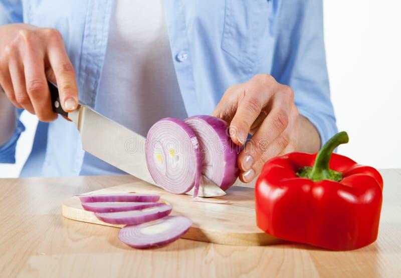 Preparazione dell'insalata immagine stock